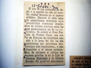 Julián Ugarte El Diario Vasco 14 Enero 1974
