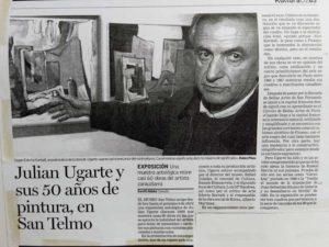 Julián Ugarte en San Telmo. Donostia