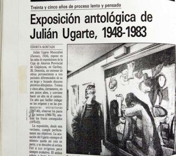 Julian Ugarte en Prensa Antología 1948 1983