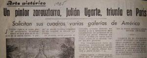 Julián Ugarte Prensa en 1965